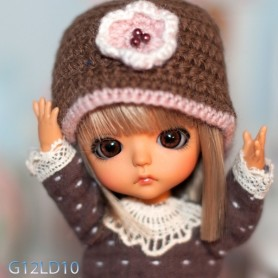 YEUX GLIB BROWN 6LD10 RÉALISTES EYES POUR POUPÉE BJD BALL JOINTED DOLL LATI WHITE PUKIPUKI  IPLEHOUSE DOLLS 6 mm