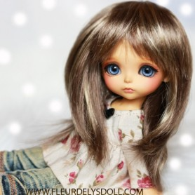 PERRUQUE WIG JOJO MOHAIR BROWN BLOND POUR LATI YELLOW PUKIFEE BJD SYBARITE TONNER KINGDOM DOLLS 5/6