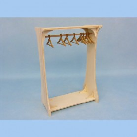 DIY WOODEN OUTFIT SHELF AND HANGERS BARBIE FASHION ROYALTY BLYTHE PULLIP MOMOKO MONSTER HIGH DOLLHOUSE DIORAMA 1/6