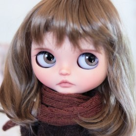 PERRUQUE WIG HANNAH GINGER POUR POUPÉES BLYTHE MEADOWDOLLS MAE ADRYN PULLIP MIO 9-10