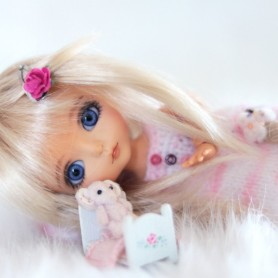 JOJO MOHAIR BLOND WIG FOR LATI YELLOW PUKIFEE BJD SYBARITE TONNER KINGDOM DOLLS 5/6