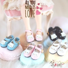HELLO KITTY BLUE PINK WHITE OR BLACK HAND MADE SHOES FOR BJD DOLL LATI YELLOW BLYTHE & NEO BLYTHE PURE NEEMO AZONE PULLIP DOLL