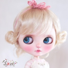 MONIQUE JESSICA WIG 10-11 BLOND FOR BJD BLYTHE MEADOWDOLLS MAE ADRYN ZWERGNASE DOLL