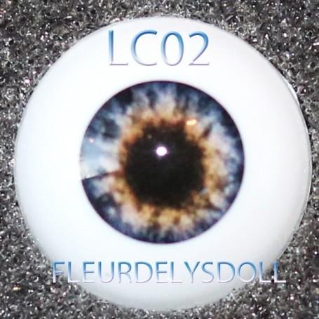 YEUX GLIB BLUE BROWN 10LC02 REALISTIC EYES POUPÉE BJD BALL JOINTED DOLL LATI YELLOW PUKIFEE 10 mm
