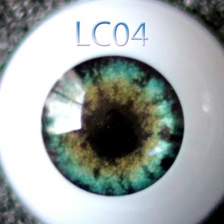 GLIB 12LC04 GREEN REALISTIC EYES DOLL BJD BALL JOINTED DOLL LATI YELLOW PUKIFEE 12 mm