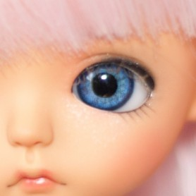 OVAL REAL BLUE 6 mm PAPERWEIGHT GLASS EYES FOR DOLL BJD BALL JOINTED DOLL LATI WHITE IPLEHOUSE DOLL