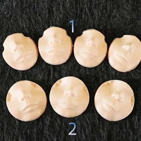 HALF FACE FACEPLATE BLYTHE NUDE FOR CUSTOM NATURAL SKIN FOR CARVING AND MAKE UP DOLL