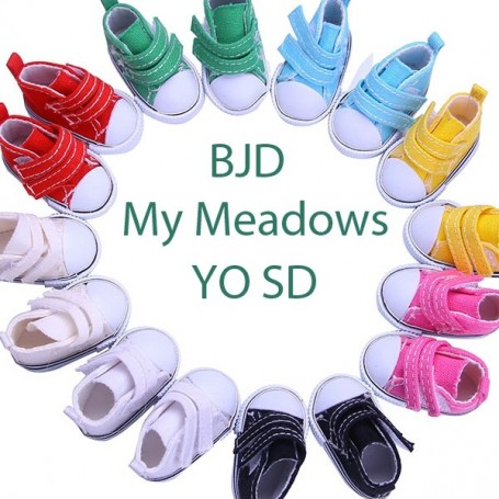 CHAUSSURES BASKETS POUR BJD MY MEADOWS YOSD 1/6 DOLLS LD  LITTLE DARLING DIANNA EFFNER SHOES DOLLS