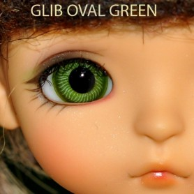 YEUX GLIB EN VERRE GREEN OVAL CLASSIC REALISTIC DOLL EYES 14 mm BJD BALL JOINTED DOLL LATI YELLOW IPLEHOUSE MSD