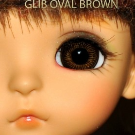 YEUX GLIB EN VERRE BROWN OVAL CLASSIC REALISTIC DOLL EYES 14 mm BJD BALL JOINTED DOLL LATI YELLOW IPLEHOUSE MSD