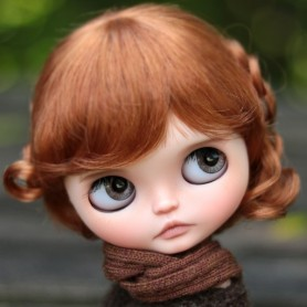 MALLORCA WIG 10-11 FOX RED FOR BLYTHE AND NEO BLYTHE DOLLS