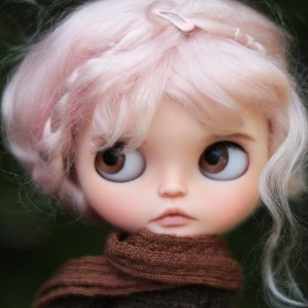 "PINK KAWAII PURE LONG MOHAIR BRAIDS WIG 10-11"" EXCLUSIVE FLEURDELYSDOLL FOR BLYTHE MEADOWS MAE ADRYN DOLLS"