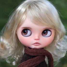 BLOND JAZZ DOLL WIG 8.9 FOR CUSTOM BLYTHE MEADOWDOLLS PULLIP