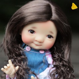 WIG LOVELY BROWN 8/9 FOR BJD MY MEADOWS PULLIP KAYE WIGGS WICHTEL SD DZ AOD DOD LUTS 1/3 BJD DOLFIE