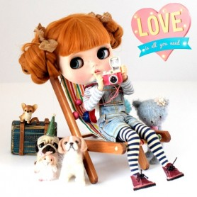 DECKCHAIR CHAIR 1/6 BJD MY MEADOWS BARBIE FASHION ROYALTY SILKSTONE MONSTER HIGH BJD BLYTHE PULLIP