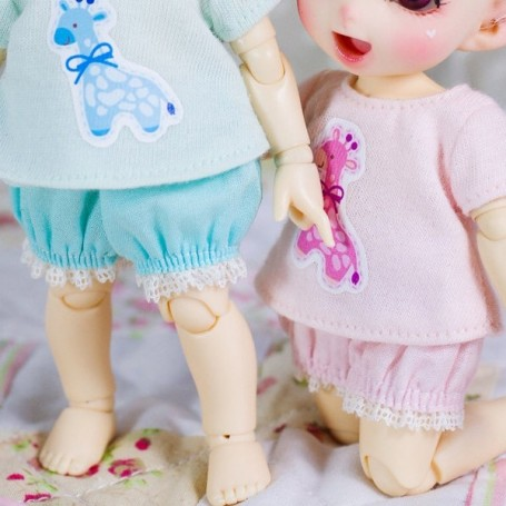 """LOVELY BLOOMER OUTFIT FOR BJD LATI YELLOW PUKIFEE AND OTHER 6"""" DOLLS"""