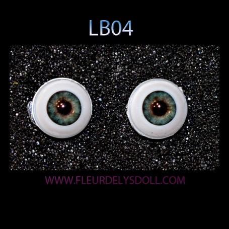 GLIB REALISTIC GREEN LB04 EYES DOLL EYES 12 MM BJD BALL JOINTED DOLL LATI YELLOW PUKIFEE IPLEHOUSE