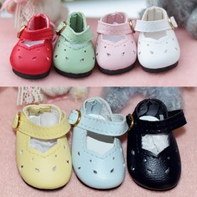 LOVELY MARY JANE SHOES LEATHER BJD DOLL MEADOWDOLLS DUMPLING PATTI TELLA GIGI BAILEY 3.8 X 2 CM DOLL SHOES