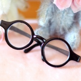 ROUND BLACK GLASSES FOR PULLIP DOLLS BJD MY MEADOWS DOLLS GIGI PATTI TELLA BAILEY ...