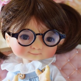 ROUND TORTOISE BROWN GLASSES FOR PULLIP DOLLS BJD MY MEADOWS DOLLS GIGI PATTI TELLA BAILEY ...