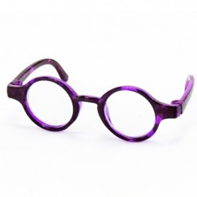 ROUND TORTOISE PURPLE GLASSES FOR PULLIP DOLLS BJD MY MEADOWS DOLLS GIGI PATTI TELLA BAILEY ...