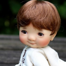 WIG BOB BOYS AND GIRLS AUBURN 8/9 FOR BJD PULLIP KAYE WIGGS WICHTEL SD DZ AOD DOD LUTS MUI CHAN