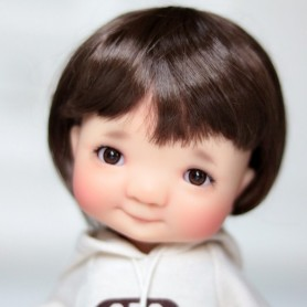 GLIB DARK BROWN EYES 12LD10 DOLL BJD BALL JOINTED DOLL LATI YELLOW PUKIFEE 12 mm