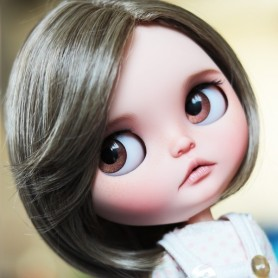 PERRUQUE WIG WENDY BLEND BLOND BROWN POUR POUPEES BLYTHE & NEO BLYTHE 10-11