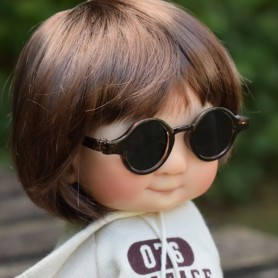 ROUND BLACK SUNGLASSES FOR PULLIP DOLL BJD MEADOWDOLLS DOLL GIGI PATTI TELLA BAILEY