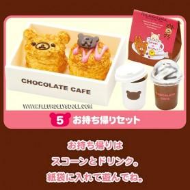RE-MENT MINIATURE SAN-X RILAKKUMA CHOCOLATE CAFE LATI YELLOW BARBIE FASHION ROYALTY BLYTHE PULLIP DIORAMAS....