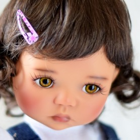 "PERRUQUE MONIQUE WIG JESSICA BROWN 12.13 POUR POUPÉE BJD MEADOWDOLLS SAFFI BAILEY 18"" DOLLS"