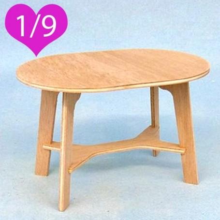 Table miniature en bois pour poup e bjd lati yellow Vernir table bois