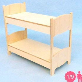 2 BEDS BJD LATI YELLOW PUKIFEE MIDDIE BLYTHE MYMEADOWS SMALL DOLL DIORAMA DOLLHOUSE DIY 1/9