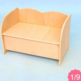 SOFA BJD LATI YELLOW PUKIFEE MIDDIE BLYTHE MYMEADOWS SMALL DOLL DIORAMA DOLLHOUSE DIY 1/9