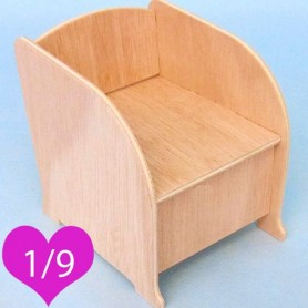 ARMCHAIR BJD LATI YELLOW PUKIFEE MIDDIE BLYTHE MYMEADOWS SMALL DOLL DIORAMA DOLLHOUSE DIY 1/9
