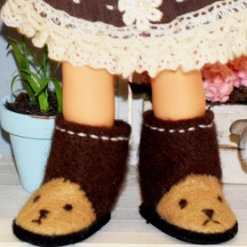 BOTTES BOTTINES UGG 25/12 MM CHAUSSURES POUR POUPEES BJD BLYTHE PURE NEEMO LICCA LATI YELLOW PUKIFEE BARBIE MOMOKO...