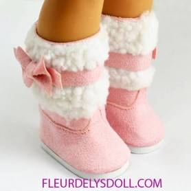 "DOLL BOOTS SHOES 7.2 X 3.6 CM FOR DOLLS BJD MY MEADOW SAFFI BAILEY 18"" AMERICAN GIRL GOTZ DOLLS ETC..."