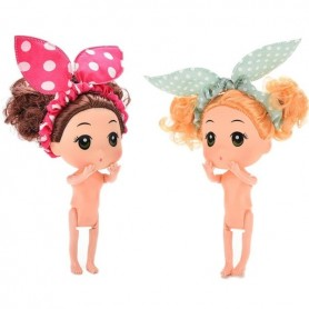 SURPRISE ARTICULATED MINI DOLL TO DRESS OR PLAY OR DECORATING BIRTHDAY CAKE MINIATURE 11 CM