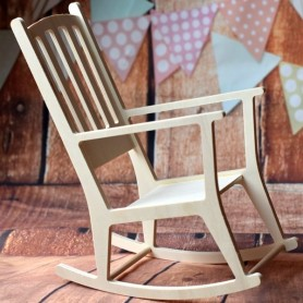 "ROCKING CHAIR EN BOIS MEUBLE POUR 18"" DOLLS MY MEADOWS AMERICAN GIRL GOTZ..."