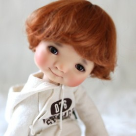 WIG BOB BOYS AND GIRLS CARROT 8/9 BJD PULLIP MIDDIE BLYTHE KAYE WIGGS MY MEADOW DOLLS LUTS MUI CHAN