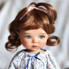 "PERRUQUE MONIQUE WIG CINDY MILOU AUBURN 12.13 POUR BJD MY MEADOWS 18"" DOLLS ETC..."