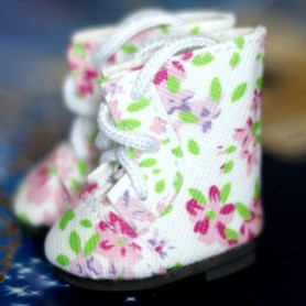 LOVELY BOOTS SHOES FOR BJD MEADOWDOLLS DUMPLING PATTI TELLA GIGI BAILEY 3.8 X 2 CM DOLL SHOES