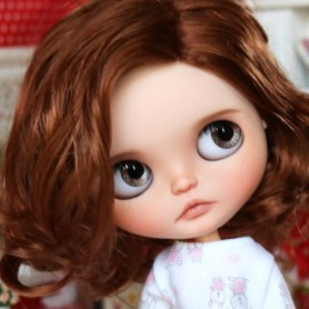 MONIQUE CHARLENE DOUBLE RED WIG 10-11 BJD DOLLS BLYTHE MEADOWDOLLS MAE ADRYN ZWERGNASE DOLL