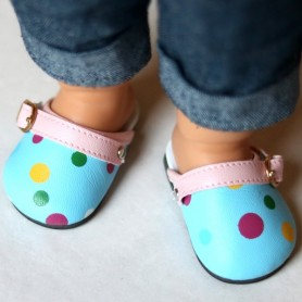 "DOLL DOTS SHOES 7 X 3.5 CM FOR DOLLS BJD MY MEADOW SAFFI BAILEY 18"" AMERICAN GIRL GOTZ DOLLS ETC..."