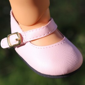 "ELEGANT ANKLE STRAP SHOES 7 X 3.5 CM FOR DOLLS BJD MY MEADOW SAFFI BAILEY 18"" AMERICAN GIRL GOTZ DOLLS ETC..."