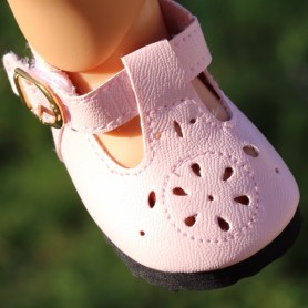 "MODERN T STRAP SHOES 7 X 3.5 CM FOR DOLLS BJD MY MEADOW SAFFI BAILEY 18"" AMERICAN GIRL GOTZ DOLLS ETC..."