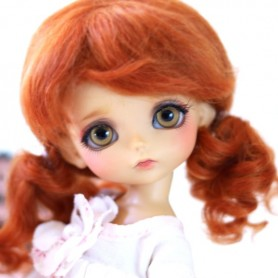 MOHAIR RED FOX ALIZEE WIG BJD LATI YELLOW PUKIFEE BJD MY MEADOWS CHARA NAVI DOLLZONE LANKUI 5/6