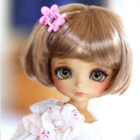 WIG PETIT BOB GOLDEN BLOND BJD LATI YELLOW PUKIFEE IRREALDOLL MY MEADOWS TONNER SYBARITE JAMIESHOW KINGDOM DOLL...5/6