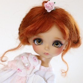 MOHAIR RED FOX BABY LOVE WIG BJD LATI YELLOW PUKIFEE MEADOWDOLLS TWINKLES STODOLL OB11