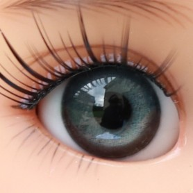 YEUX EN VERRE OVAL REAL GRIS PROFOND 18 mm GLASS EYES POUR POUPÉE BJD BALL JOINTED DOLL MY MEADOWS SAFFI BAILEY